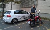 Kawasaki 125ccm geschafft....